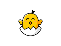 Happy music chick