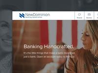NewDominion Bank Redesign