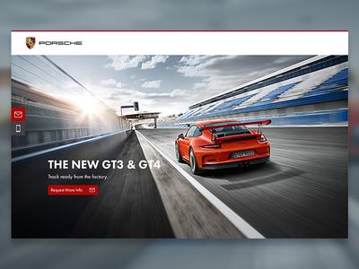Porsche 911 GT3 & GT4 Landing Page
