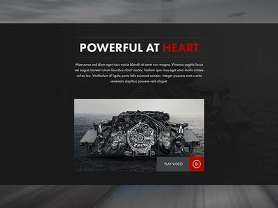 Porsche Landing Page Video Section