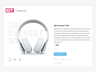 KIT | Growth Marketing Agency - Daily UI #2 kit headphones cart checkout ecommerce challenge ui product design