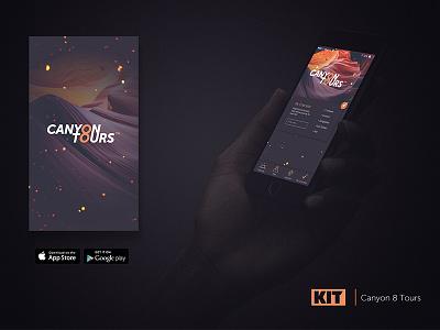 KIT | Daily UI #3 Canyon 8 Tours marketing agency kit ui challenge daily ui mockup splash page app store design product app