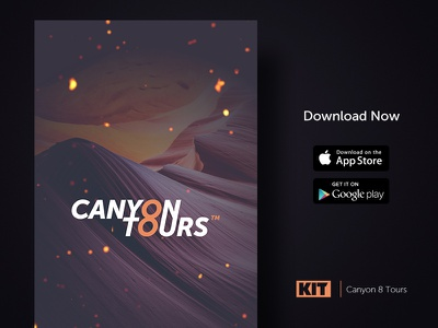 KIT | Daily UI #3 Canyon 8 Tours daily ui challenge ui page splash product mockup marketing kit design app agency