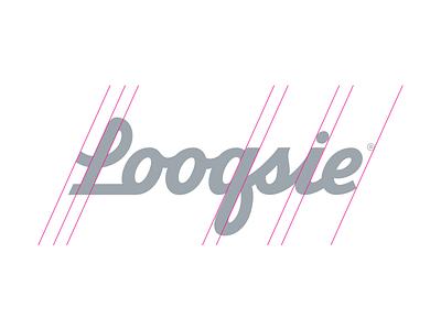 Looqsie Branding brush script logo branding lettering