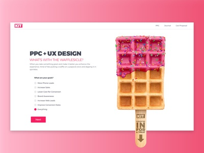 KIT | PPC Management waffle ppc homepage landing page