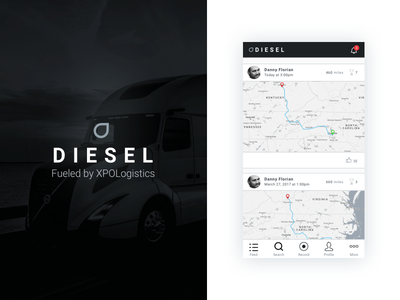 Sträva for truck drivers mvp product design interface ui app strava freight über competitor