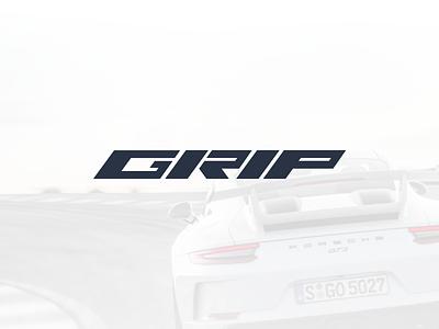 Logo concept for GRIP mark cars logo branding interface design product design