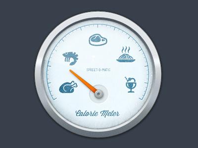 Calorie Meter gauge meter calorie food