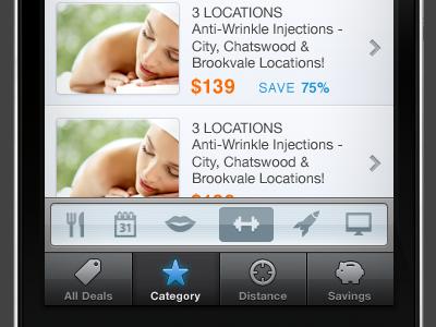 Secondary Navigation for an iPhone App iphone app nav ios sydney