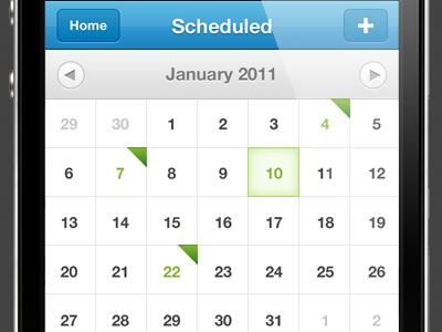 iPhone Calendar iphone app ios ui calendar sydney