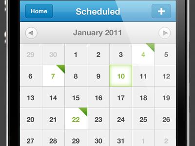 Tweaks iphone app ios ui calendar sydney