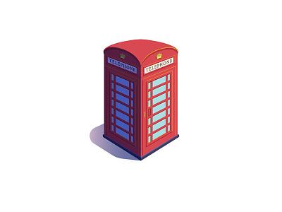 Phone Box icon phone vector london illustration