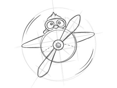 New Frontendy Logo illustration sketch penguin branding logotype