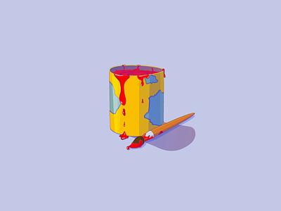 Paint bucket icon paint illustration vector icon