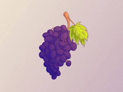 Bunch of Grapes food grape icon graphics illustration vector