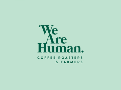 We Are Human Logo coffeeshop coffee pastel branding logo