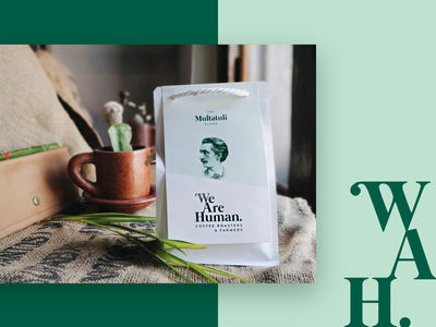 We Are Human.  Packaging branding fairtrade multatuli coffee packaging design
