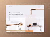 Landing page design (above the fold)