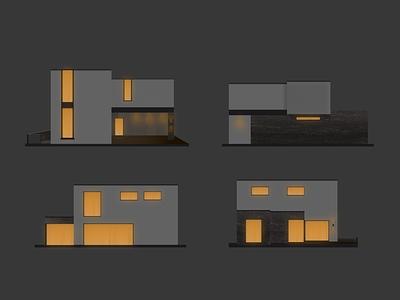 House at night figma illustration