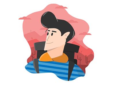 Adventurer flat vector illustration design