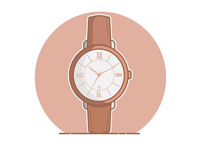 Jacqueline Cedar watch flat vector illustration design