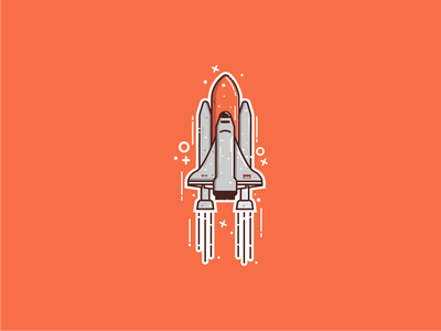 Spaceship rocket spacehip vector illustration