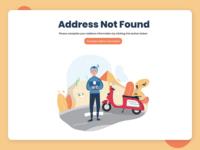 address not found not found address 404 page website design uiux flat illustration
