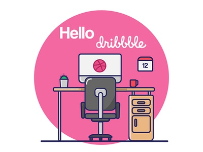 Hellooo Dribbble! vector illustration design debut