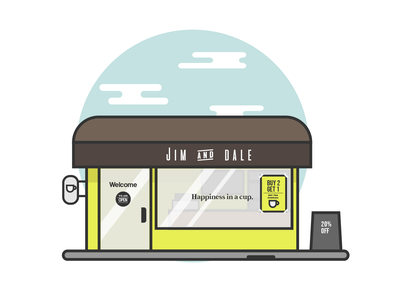 Coffee Shop flat vector illustration design