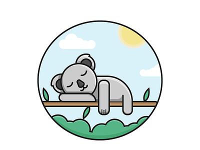 Koala illustration flat design vector