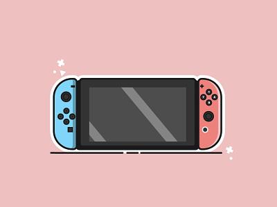 Nintendo Switch flat vector illustration design