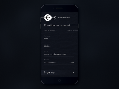 Daily UI challenge #1 — Sign Up