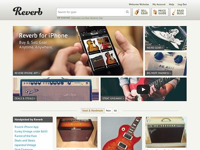 Reverb Homepage