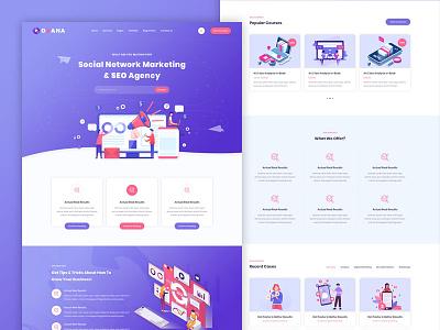 Oxana - SEO & Digital Marketing HTML Template themeforest oxana webdesign website design digital marketing company seo agency seo services digital marketing seo