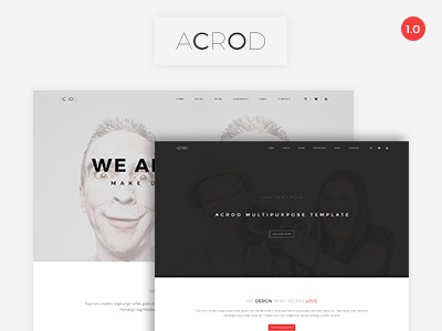Acrod - Multipurpose HTML Template colors html template multipurpose responsive awesome simple layout clean  minimal webdesign