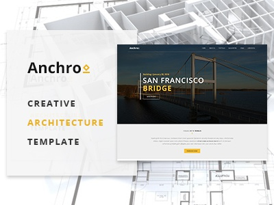 Anchro - Creative Architecture HTML Template webdesign layout simple responsive architecture template html colors minimal clean awesome