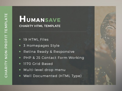 Humansave - Nonprofit Charity HTML Template found rising website theme template nonprofit color charity forms webdesign