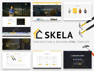 Skela - Construction & Building HTML Template design theme template construction color building industry webdesign