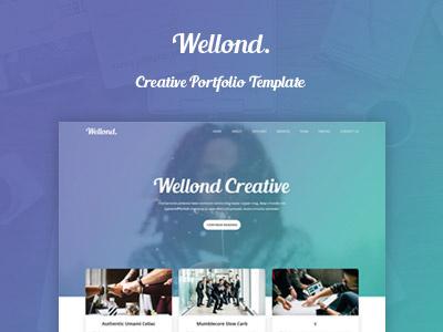 Wellond - Creative HTML Template sale new themeforest portoflio creatie