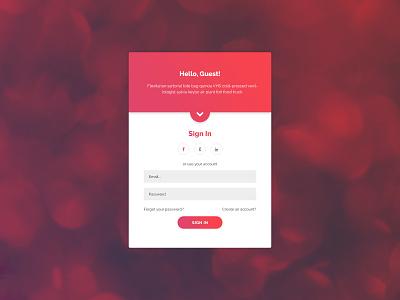 Creative Login Form unique colorful gradient freebie signup signin webdesign webform login form login
