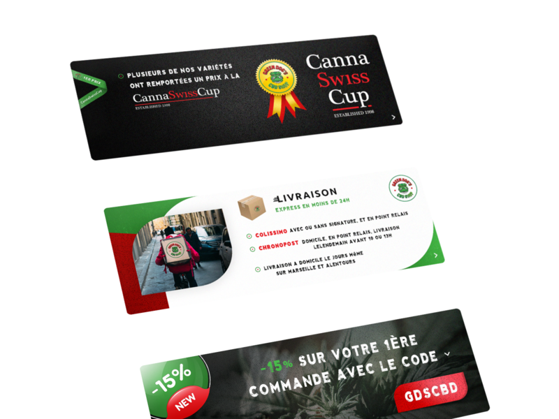Banners. GreenDogs CBD Shop thc cbd shop store market legal shop hash weed cannabis code promotion delivery canna swiss cup mock up vintage psd mockup photoshop psd banners