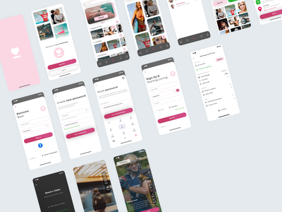 Love Challenge. IOS App nav ios ios app notification application app home welcome gallery video sign up sign in ux ui photoshop psd privacy policy profile challenge love