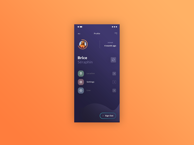 New App Freebies 👍 live settings location mobile ui profile icons french gratuit application app freebies free mock up ux ui photoshop psd
