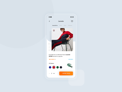 Lacoste App qty colors stars market store crocodile french lacoste ios android application app mock up ux ui freebies free photoshop psd
