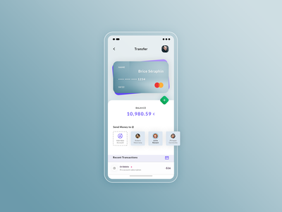 Transfer. App #Freebies wallet transactions balance paiement credit card transfert hybrid ios android application app ux ui freebies free photoshop psd