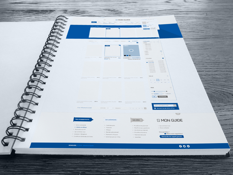 Mon Guide. Templates #Freebies basket header templates logo photoshop store e-commerce download psd freebies free guide