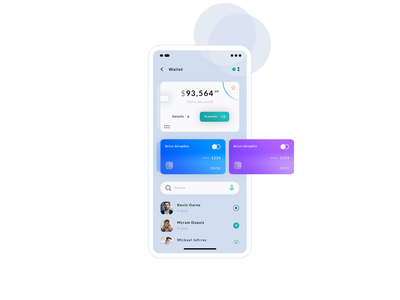 Wallet. App #Freebies hybrid app android ios balance search firends credit card dashboard wallet application ui ux app mock up icons ux ui freebies free photoshop psd
