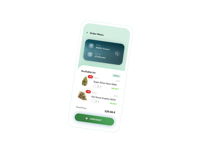 Order Menu. App #Freebies #.Psd market items product hybrid ios android cannabis weed uber drive drive menu order application app ux ui freebies free photoshop psd