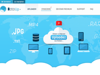 Ecta Up. HomePage homepage upload hosting files psd templates clouds buttons pricing tabs icons usb card footer blue