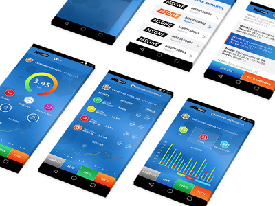 MS Sports. Android App blue live graph android stats photoshop psd ui ux app football sports